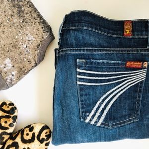 7 For All Mankind Dojo Flare Jeans 28